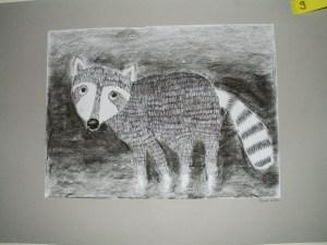 Schnauzentiere Kl. 4 Zeichnung mit Finliner, Ergänzung mit Kohle
